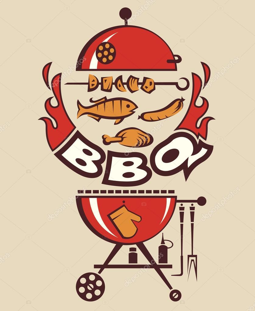 Uitnodiging voor barbecue stockvector alexkava 52516147 - Barbecue ontwerp ...