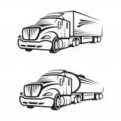 Truck and tank truck — Stock Vector