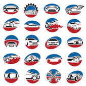 Set of car icons — Stock Vector