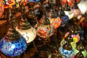 Turkish lamps for sale in the Grand Bazaar — Stock Photo