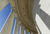 Pillars at the Jefferson Memorial — Stock Photo