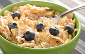 Cereal with Blueberries — Stock Photo