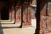 Pillars at Fort Agra in India — Stock Photo