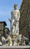 The fountain of Neptune by Bartolomeo Ammannati — 图库照片