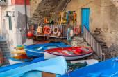 Fishing boats in Riomaggiore — Stock Photo