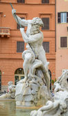 Neptune Statue in Rome — Stock Photo