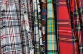 Fabric for Scottish Kilts — Stock Photo