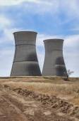 Rancho Seco nuclear power plant cooling towers — Stock Photo