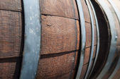 Wine Barrel in Cellar — Stock Photo