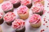 Valentines Day Cupcakes — Stock Photo