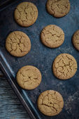 Gingersnap cookies for Christmas — Stock Photo