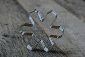 Snowflake Cookie Cutter — Stock Photo