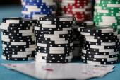Poker Chips Stacked — Foto Stock