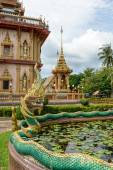 Dragon at Wat Chalong in Phuket — Stock Photo