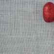 Red Heart on Burlap Background — Stock Photo #61400859