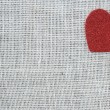Red Heart on Burlap Background — Stock Photo #61400973