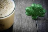 Dark irish beer — Stock Photo