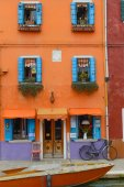 Colorful houses on the Burano island — Stockfoto