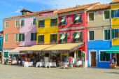 Colorful houses on the Burano island — Stock Photo