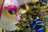 Street carnival masks — Stock Photo