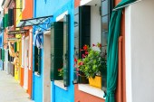 Colorful Homes in Burano — Stock Photo