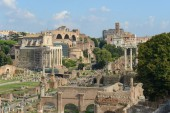 The Roman Forum in Italy — Stock Photo