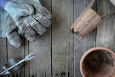 Tools for Planting Flowers — Stock Photo