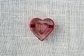 Heart on Burlap Background — Stock Photo