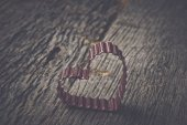 Heart on Vintage Wood Background — Stock Photo