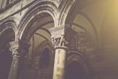 Gothic Stone Pillars — Stock Photo