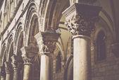 Gothic Stone Pillars — Stock Photo