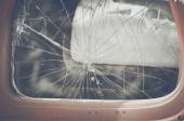 Retro Cracked Window — Stock Photo