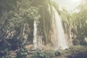 Retro Waterfall with Sunlight — Stock Photo