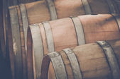 Wine Barrels outside — Foto Stock