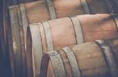 Wine Barrels outside — Stock Photo