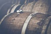 Vintage Wine Barrels — Stockfoto