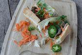 Grilled Pork Banh Mi Sandwich — Stock Photo