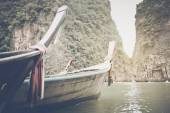 Traditional Long Boats in Thailand — Stock Photo