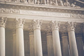 Supreme Court Pillars of Justice and Law — Fotografia Stock