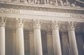 Supreme Court Pillars of Justice and Law — Stock Photo
