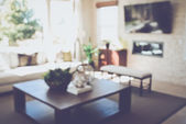 Blurred Living Room — Stock Photo