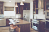 Blurred Modern Kitchen — Stock Photo