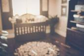 Blurred Baby Crib — Stock Photo