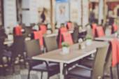 Blurred Empty Cafe — Stock Photo