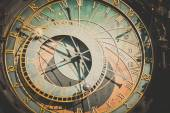 Detail of the astronomical clock — Stock Photo