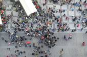 Crowd of People top view — Stock Photo