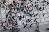 Crowd of People top view — Stok fotoğraf