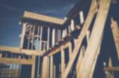 Blurred Home Under Construction — Stock Photo