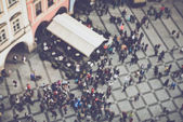 Blurred Crowd of People — Stock Photo