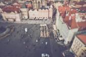 Rozmazané turistů v Praze — Stock fotografie